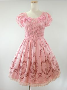 Baby the Stars Shine Bright / Jumper Skirt / Alice Bambi Print Shirring JSK