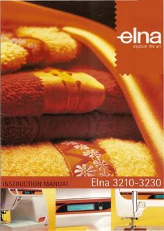 Elna Sewing Machine Manual 3210 and 3230 sewing machine manual.  Here are just a few examples of what's included in this manual:  * Machine parts and functions. * Threading The Machine. * Winding The Bobbin. * Inserting Bobbin. * Stitch selection. * Balancing Thread Tension Dial. * Extension table and free arm. * Pattern Selection. * Trouble shooting. * More!.  51 page manual.