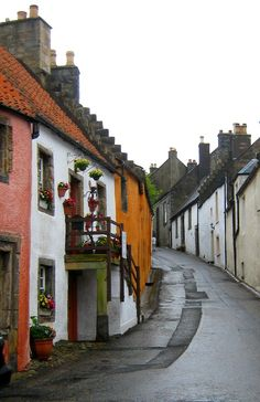 'Culross (/ˈkurəs/) (Gaelic: Cuileann Ros) is a village and former royal burgh in Fife, Scotland. According to the 2006 estimate, the village has a population of 395. Originally Culross served as a port city on the Firth of Forth and is believed to have been founded by Saint Serf during the 6th century.'