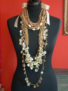 necklaces, wood, m.o.p.