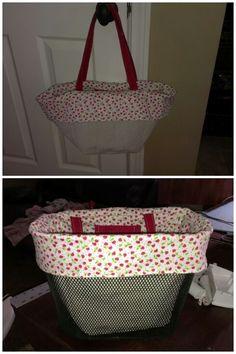 Bike basket liner/purse