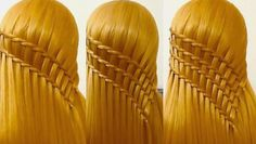 Waterfall Braid with 2 Strands