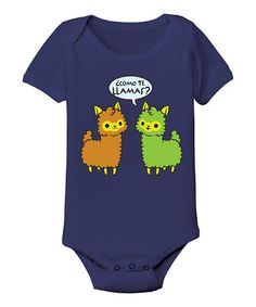 Love this Navy 'Como Te Llamas' Bodysuit - Infant by Ay Caramba on #zulily! #zulilyfinds