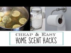 Here are some RIDICULOUSLY SIMPLE home scent hacks that are natural and actually work! Budget friendly Essential Oil for home-needs (lasts forever!
