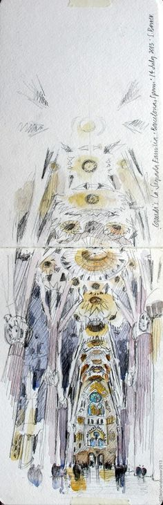 Drawing Perspectives: In the forest at Sagrada Familia, Barcelona