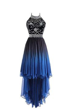 Prom Dress Beautiful, 2019 High Low A Line Halter Beaded Bodice Prom Dresees Chiffon, Discover your dream prom dress. Our collection features affordable prom dresses, chiffon prom gowns, sexy formal gowns and more. Find your 2020 prom dress Ombre Bridesmaid Dresses, Cute Prom Dresses, Grad Dresses, Dresses For Teens, Ball Dresses, Elegant Dresses, Pretty Dresses, Homecoming Dresses, Beautiful Dresses