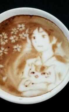 Latte Art. Coffee