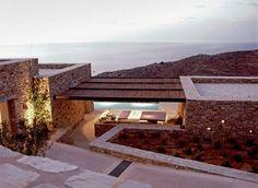 Villa Kedros, Antiparos, Greece by OLIAROS property Development Modern Architecture House, Amazing Architecture, Architecture Design, Villa Design, Mediterranean Homes, Ibiza, Beautiful Homes, House Styles, Woodworking Furniture