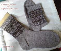 Fall Sampler Sock pattern by Stephanie van der Linden