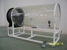 Wind tunnel to show how a wind turbine works