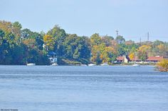 Torresdale section of Philadelphia on the left with Glen Foerd's Boathouse, while Salem Harbour's clubhouse is seen on the right, over the Poquessing Creek in Andalusia.