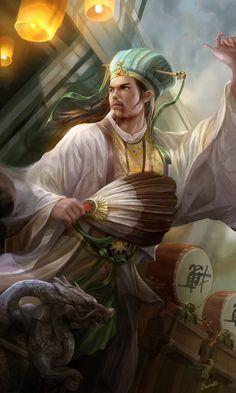 Dynasty warrior fanart - ZhuGeLiang by Derrick Song | Fan Art | 2D | CGSociety