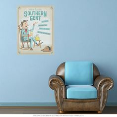 How to Talk Southern Gent Wall Decal Removable Wall Sticker