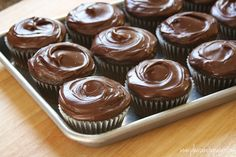 chocolate cupcakes from scratch.