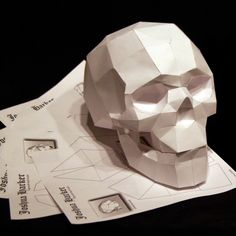 How To Make Origami Skull – Origami 2020 3d Paper Crafts, Cardboard Crafts, Paper Toys, Skull Template, 3d Templates, Cardboard Sculpture, 3d Cnc, How To Make Origami, Modelos 3d