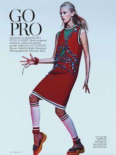 Vogue Austrália Fevereiro 2014 | Juliana Schuring por Sebastian Kim  [Editorial]