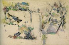Paul Cézanne - Rocks at Bibémus