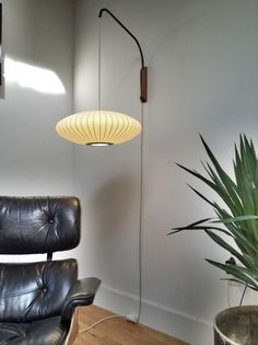 George Nelson Saucer Sconce Lamp | Had one of these lamps in our house. More