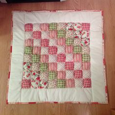 Puff quilt made for our Granddaughter Autumn.