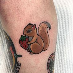 """Squirrel cuteness!!!!! @goodlucktattoo"" Photo taken by @sashimi_roll_tattooing on Instagram, pinned via the InstaPin iOS App! http://www.instapinapp.com (09/29/2015)"