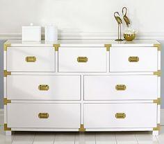 22a616fd027 Gemma Campaign Extra Wide Dresser  pbkids Bedroom Furniture For Sale