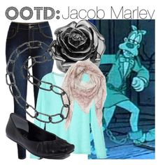 """OOTD: Jacob Marley"" by fabulousgurl ❤ liked on Polyvore featuring Palm Beach Jewelry, Etro, Bridget King, Jessica Simpson, disneybound and achristmascarol"