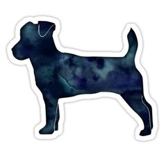 Jack Russell Terrier - Black Watercolor Silhouette by TriPodDogDesign