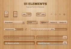32 Pixel Perfect UI Element PSDs | SpyreStudios