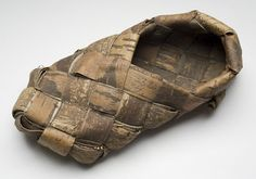 bast shoes | Finland I Bast shoes are shoes made primarily from bast - fiber from the bark of the linden tree or birch tree: they are a kind of basket woven and fitted to the shape of a foot. Bast shoes are an obsolete traditional footwear of forest areas of Nothern Europe, formerly worn by poorer members of the Finnic peoples
