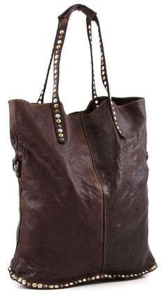 Campomaggi Lavata Tote Leather dark-brown 37 cm