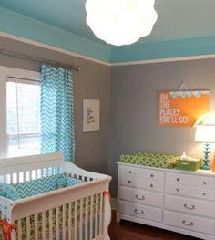 I like this color scheme and the way they painted the ceiling and transitioned it to the walls.