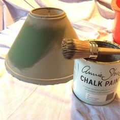 Annie Sloan Chalk Paint can be used on virtually any surface. Take a look at the different chalk paint projects we have undertaken. Painting Lamp Shades, Painting Lamps, Chalk Painting, Lamp Makeover, Furniture Makeover, Lamp Redo, Shabby Vintage, Fabric Lampshade, Painted Lampshade