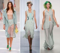 Spring/ Summer 2014 Color Trends - Hemlock Green  #colortrends #fashion