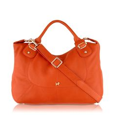 On the hunt for a great orange bag.