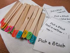 Love this stick game with following directions!
