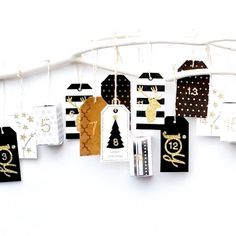 Count down in style with this adult advent calendar that doubles as great holiday decor!