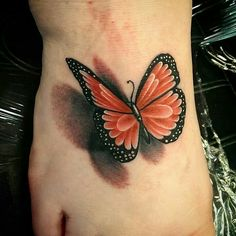 My 3D butterfly! ! I love this tattoo,  beautifully done!