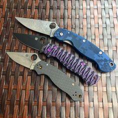 Spyderco Military, Spyderco Knives, Stabilized Wood, Edc Knife, Pocket Knives, Swiss Army Knife, Folding Knives, Guy, Bronze