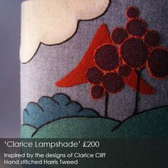 Emma Dolan's intricately hand-stitched 'Clarice' lampshade