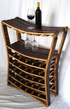 up-cycled wine barrel for wine storage & display