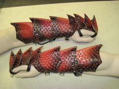Armure de cuir Dragon Scale Gantelets