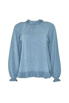 Loobies Story - LULU SWEATER - Hartleys Fashion Colour, Cream, Navy, Sweatshirts, Clothing, Sweaters, Cotton, Blue, Dresses