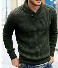 Love this sweater. This color or purple would be awesome. Layering Sweaters men - http://amzn.to/2hM9HTm