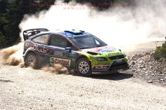 Mikko Hirvonen from Finland with ford focus wrc. Rally Acropolis 2009 S.S Drosohori Acropolis, Ford Focus, Rally