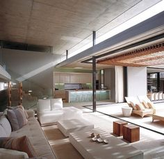 like indoor outdoor vibe. way too many materials going on. glass, wood, steel, concrete, doors, curtains, posts. yikes. Hope we can avoid this somehow !