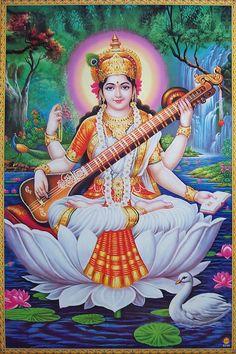 Saraswati Sarasvati Maa Mata