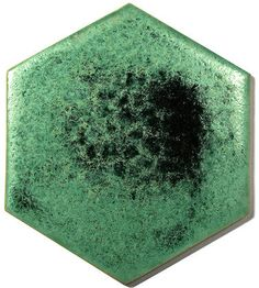 Green Ceramic Handmade Wall & Floor Tile - Hexagon, glaze - Frosty Forest
