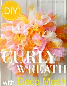 How to make a deco mesh wreath tutorial. Totally doing this one!