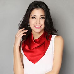 2018 Fahion Joker Square Silk Neck Scarf For Women Headband Bandana Satin Neckerchief Printed Solid Color Scarves Price history. Wholesale Scarves, Silk Neck Scarf, Neckerchiefs, Dress For Success, Headbands For Women, Neck Scarves, Square Scarf, Womens Scarves, Lady In Red