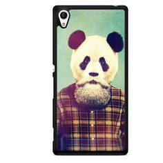 Hipster Panda TATUM-5285 Sony Phonecase Cover For Xperia Z1, Xperia Z2, Xperia Z3, Xperia Z4, Xperia Z5